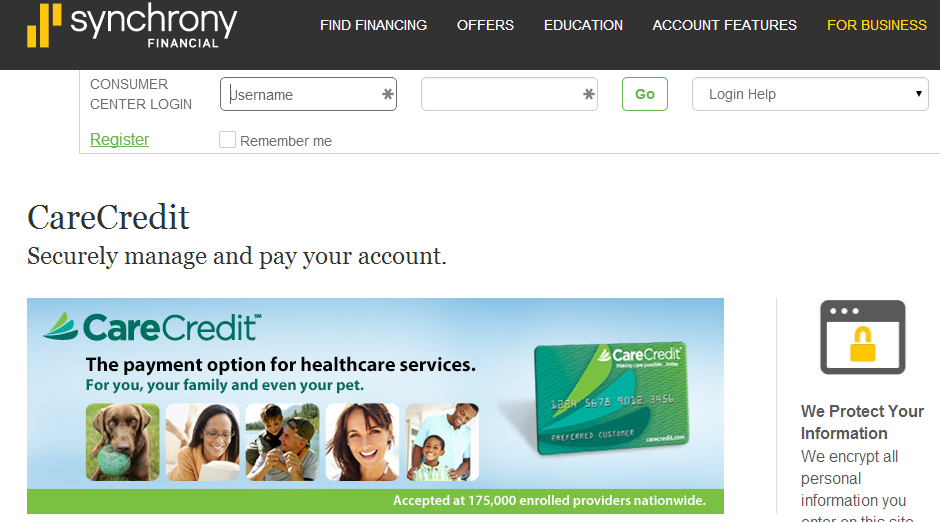 Mysynchrony Pay Bill >> CareCredit.Com/Credit-Card-Login | Care Credit LogIn - MyCheckWeb.Com