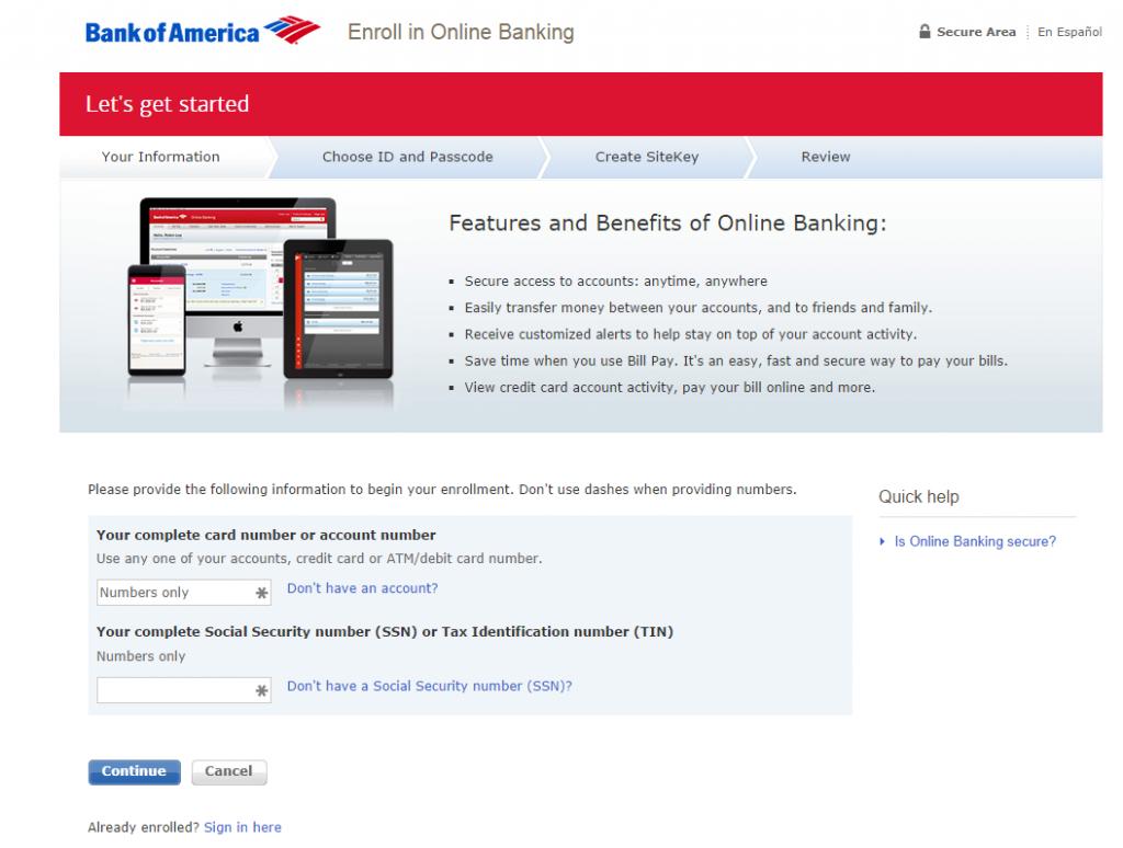 Bank Of America Auto Loan Payoff >> bankofamerica.com enroll   MyCheckWeb.Com