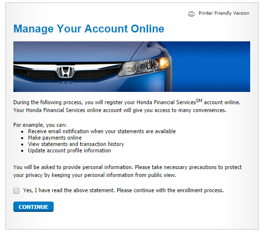 www.hondafinancialservices.com Manage Your Account Online