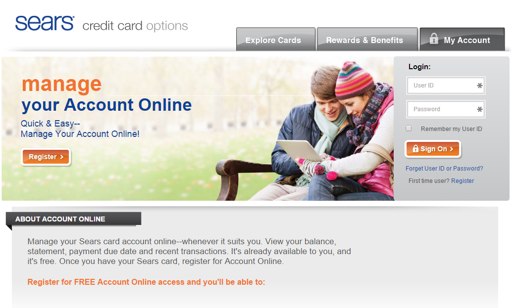 Sears Credit Card Payment – Login – Address – Customer Service