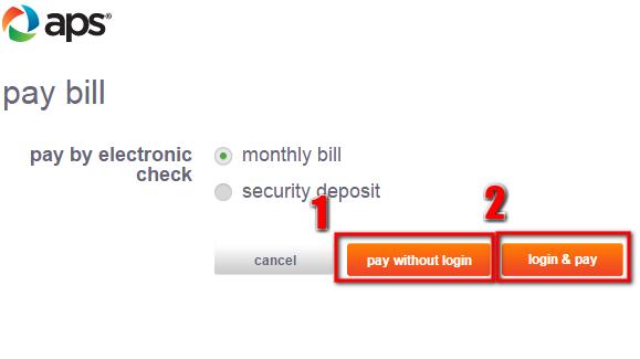 Aps Bill Pay Mycheckweb Com