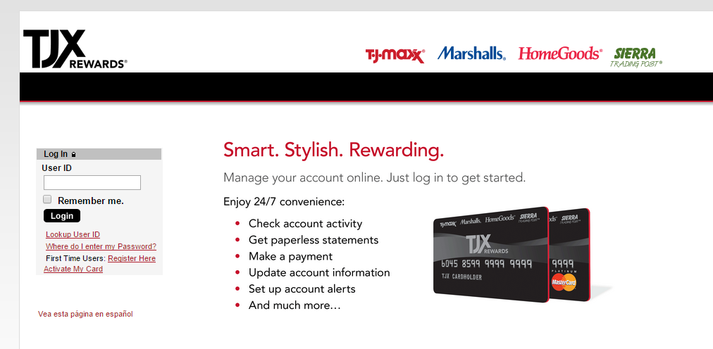 How to pay tj maxx credit card