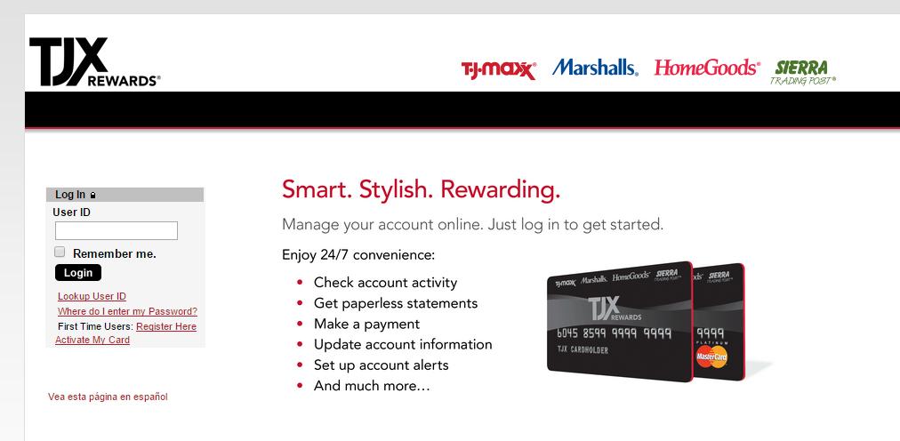 www.tjxrewards.com Pay Bill  TJX Rewards Bill Pay