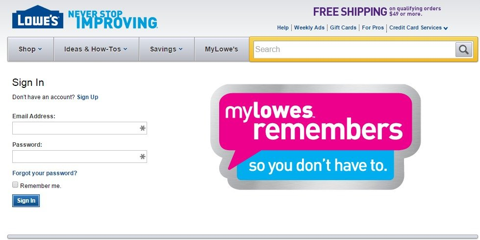 Lowe's credit card Apply line MyCheckWeb