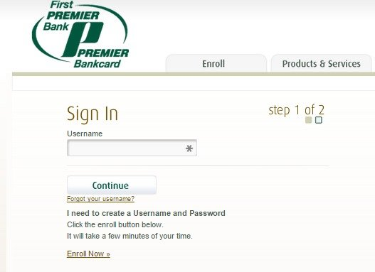 Register for a First PREMIER Credit Card Account ...