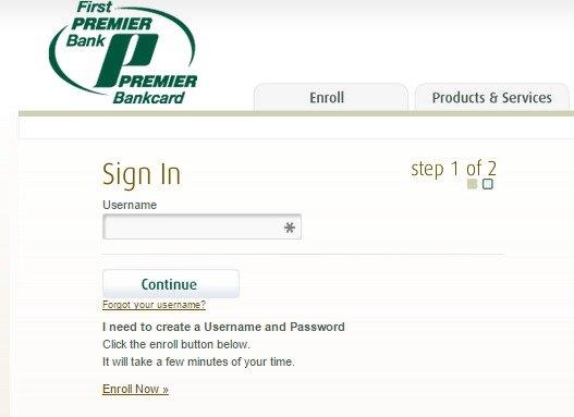 www.MyPremierCreditCard.com/login  My Premier Credit Card Login