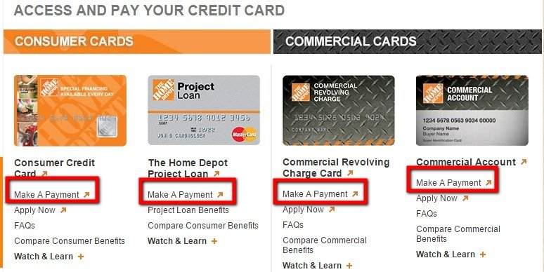 Home Depot Credit Card Bill Pay | MyCheckWeb.Com