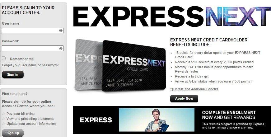 e09ad1587 comenity.net/express | EXPRESS NEXT Credit Card - KUDOSpayments.Com