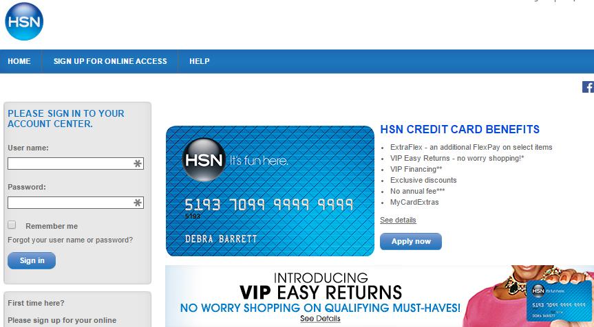 comenity.net/hsn  Comenity Capital Bank HSN Credit Card