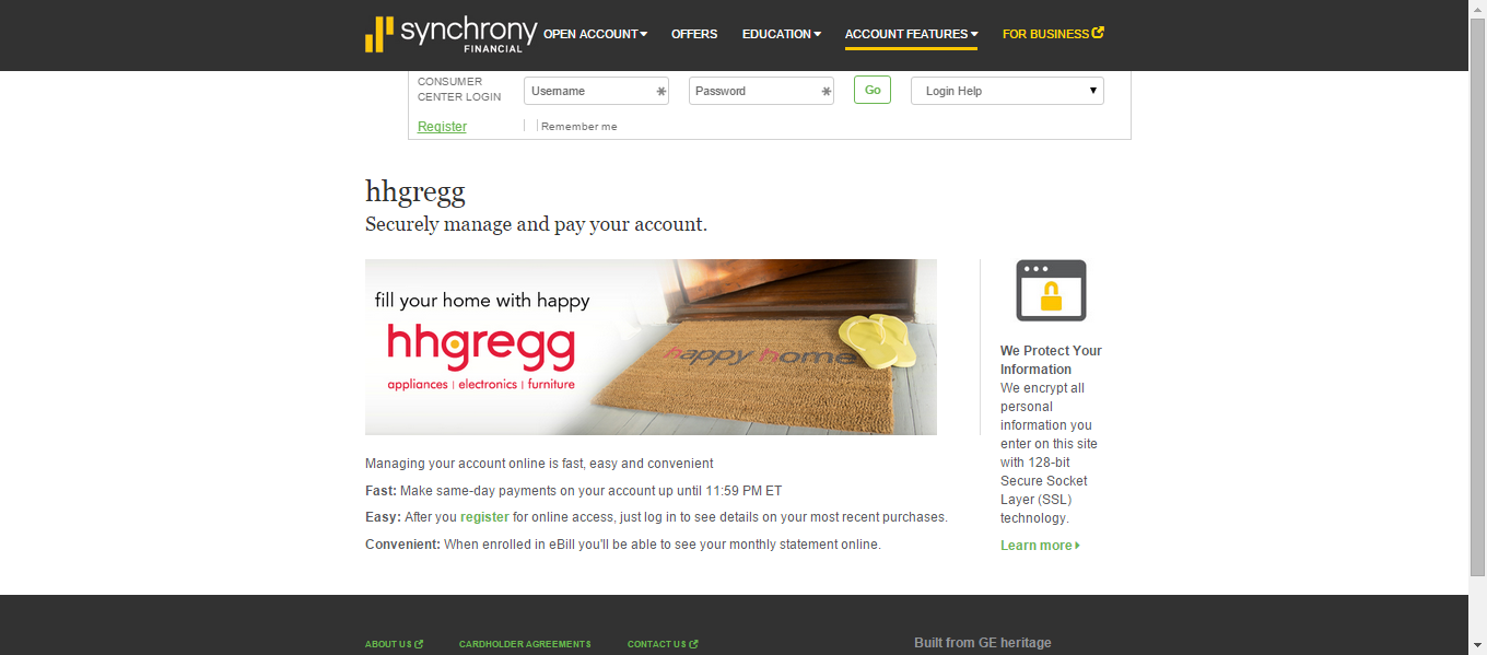 3 ways to pay your hhgregg credit card bill online mycheckweb colourmoves
