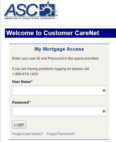 mortgageaccountonline asc mortgage
