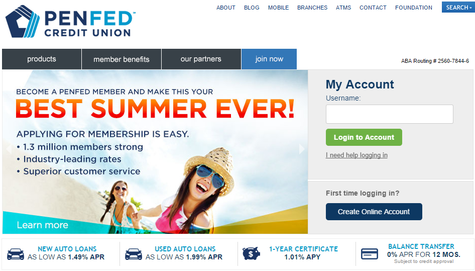 Penfed Credit Union Used Car Rate