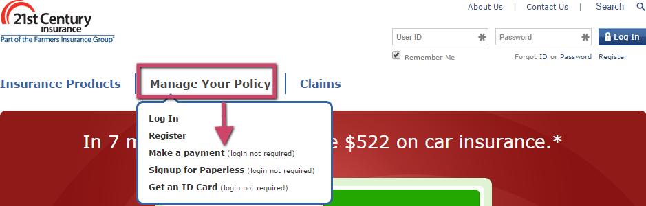 21st Century Auto Insurance Bill Pay Kudospayments Com