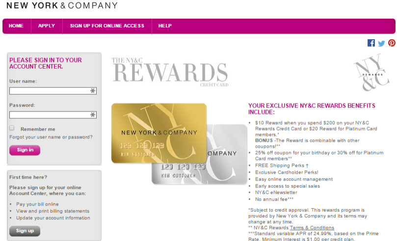 New York And Company Credit Card Payment >> Www Nyandcompanycard Com New York And Company Credit Card