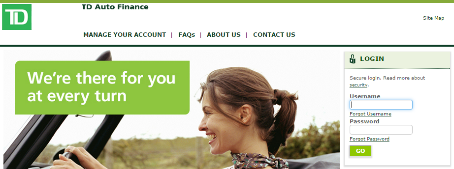PAY BILLS ONLINE WITH TD AUTO FINANCE - MyCheckWeb.Com