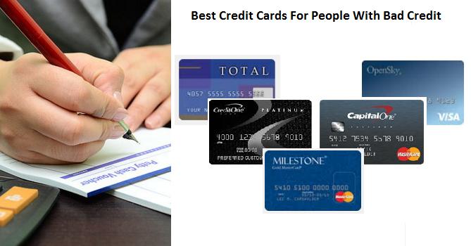 best credit cards for people with bad credit mycheckweb com. Black Bedroom Furniture Sets. Home Design Ideas