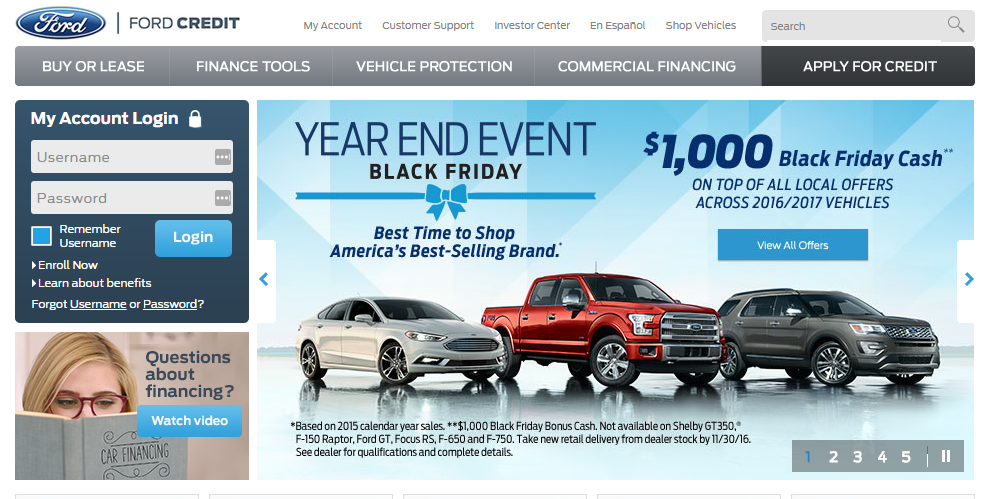 Credit Ford Com Billpay Ford Credit Card Payment Options