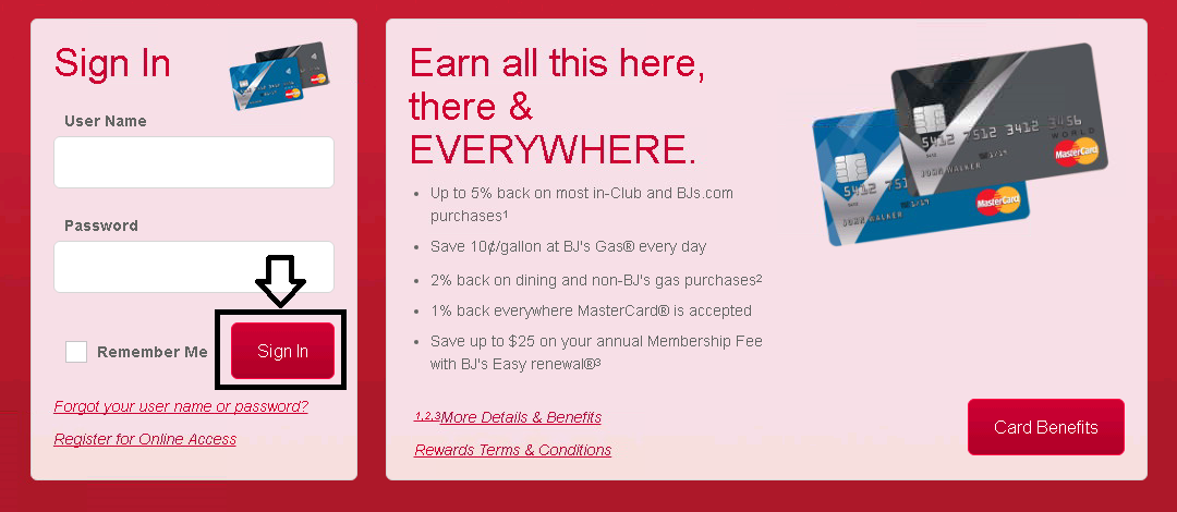 comenity bank bjs credit card login