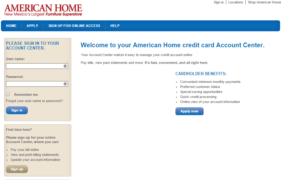 American home credit card for Americanhome com