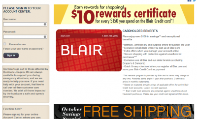 comenity net blair blair credit card payment online. Black Bedroom Furniture Sets. Home Design Ideas