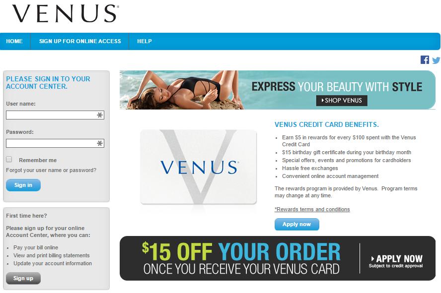 comenity net venus venus credit card mycheckweb com. Black Bedroom Furniture Sets. Home Design Ideas