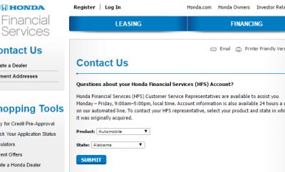 Honda Financial Services Account >> Contact Honda Financial Services Customer Service Kudospayments Com