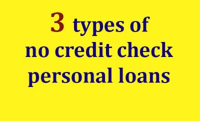 No Credit Check Personal Loans Online