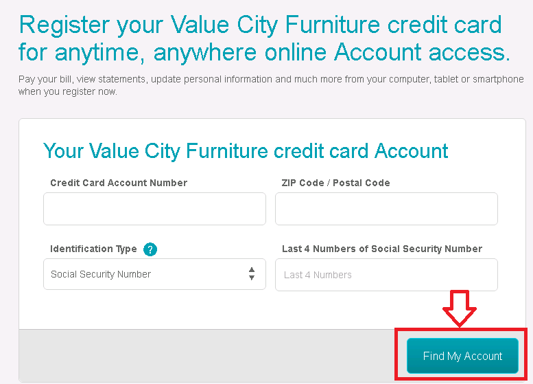 comenity/vcf | value city furniture credit card payment