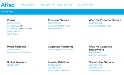 Contact Aflac Customer Service - KUDOSpayments.Com