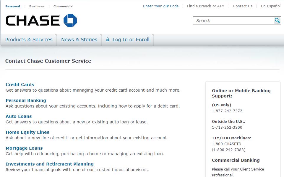 Contact Chase Customer Service - MyCheckWeb.Com