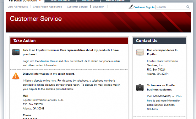 Equifax .Com Phone Numbers - Contact Equifax Customer Service