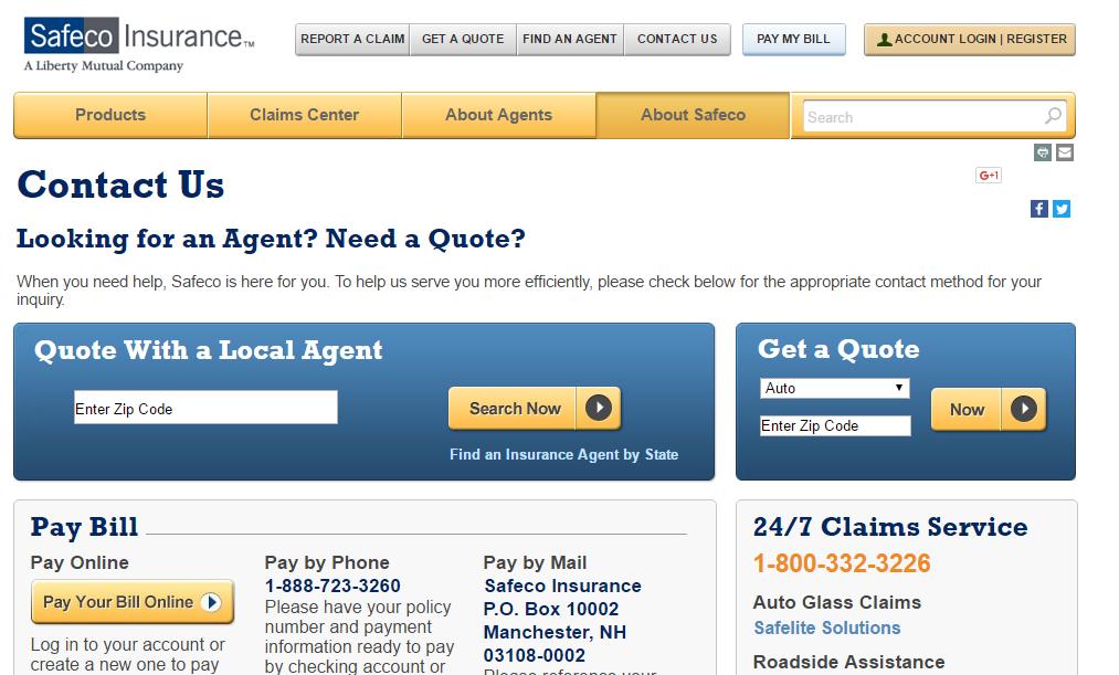 Safeco Car Insurance: Contact SafeCo Customer Service