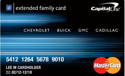 Gm Extended Family Card >> Capital One GM Extended Family Credit Card - Benefits ...