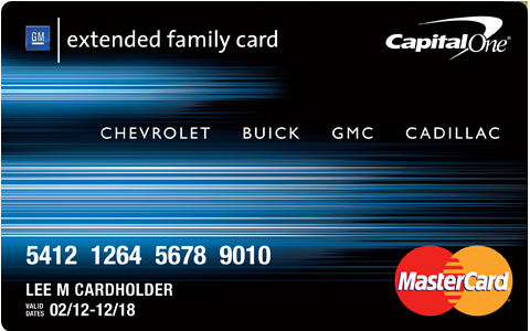 Gm Extended Family Card >> Capital One GM Extended Family Credit Card - Benefits, Rates and Fees