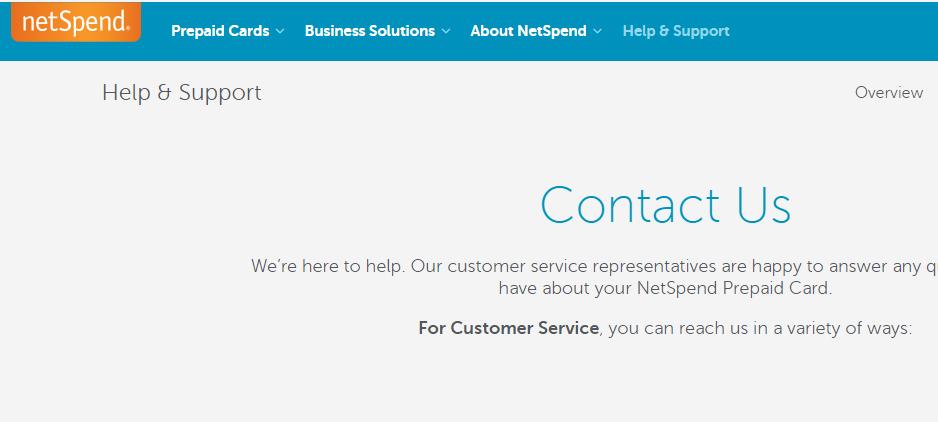 Contact NetSpend Customer Service - MyCheckWeb.Com