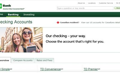 www td bank online banking