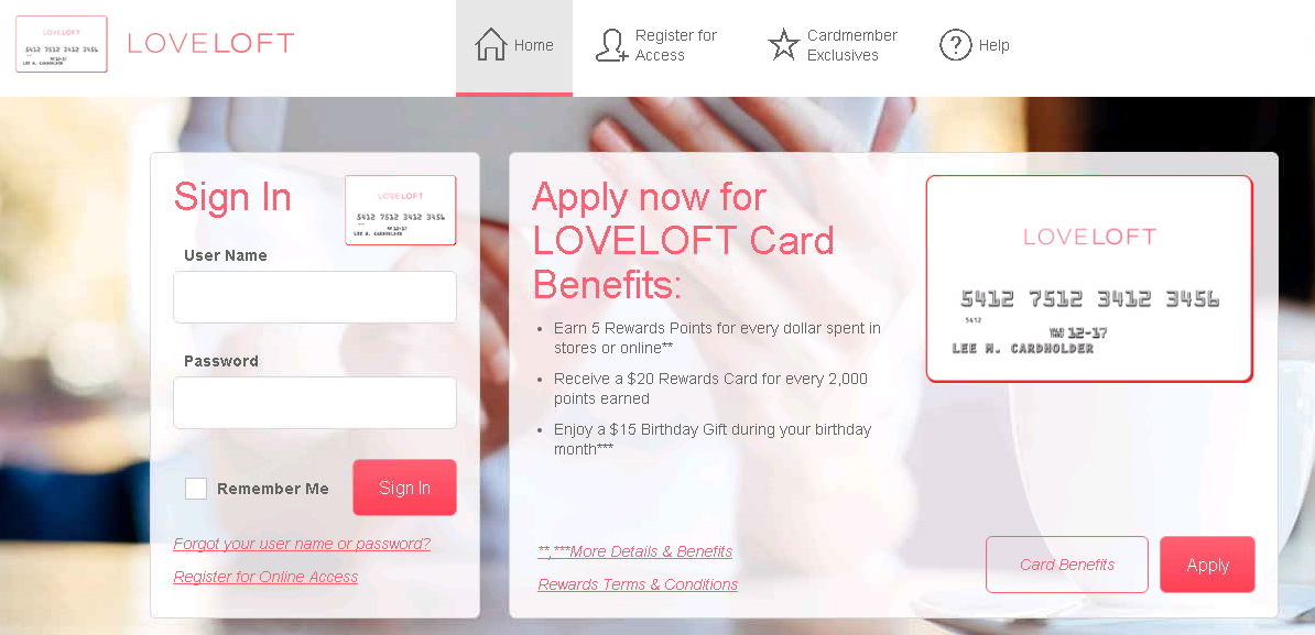 comenity net loveloft loveloft credit card payment options. Black Bedroom Furniture Sets. Home Design Ideas