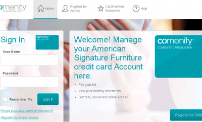 comenity net as furniture american signature furniture credit card