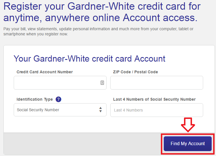 comenity net gardner white credit card account