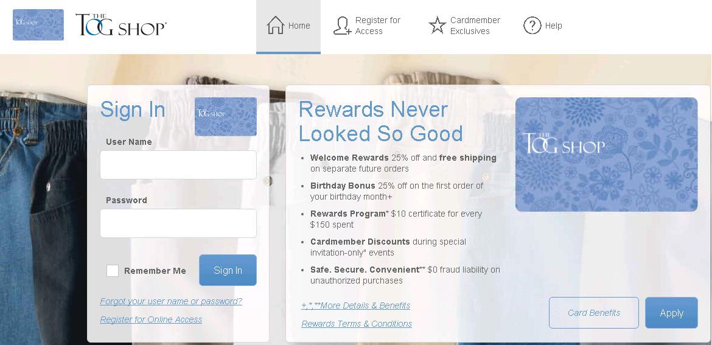comenity net togshop togshop credit card payment options. Black Bedroom Furniture Sets. Home Design Ideas