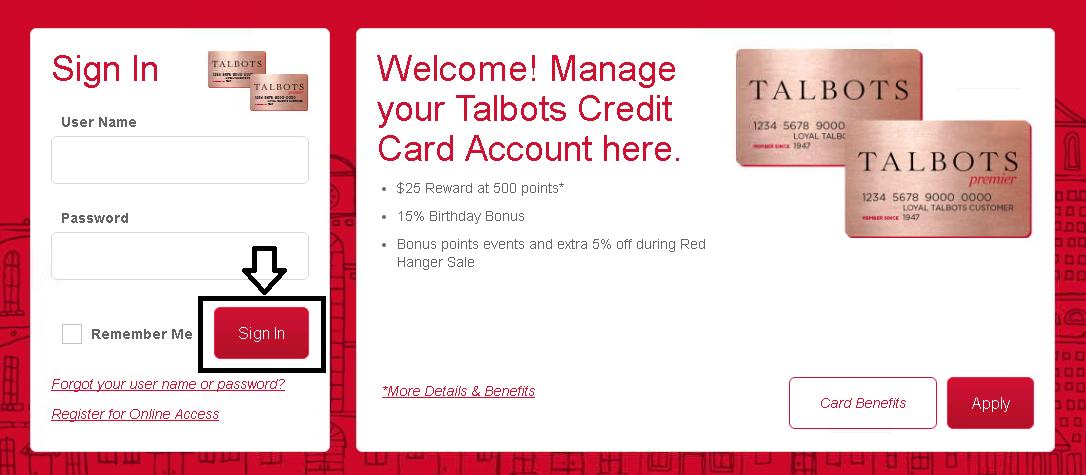 comenity net talbots talbots credit card payment options. Black Bedroom Furniture Sets. Home Design Ideas