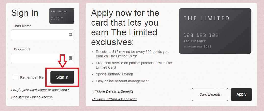 the limited comenity credit card login payments online mycheckweb com. Black Bedroom Furniture Sets. Home Design Ideas