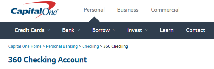 CapitalOne Com/360 Checking | Capital One 360 Checking