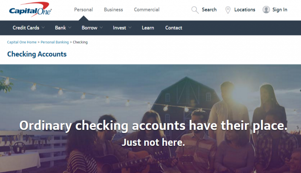 Capital one personal checking account / Actual Deals