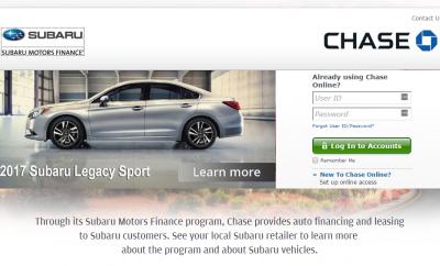 Chase Auto Finance Subaru >> Mysubarumotorsfinance Com Subaru Motors Finance Payment