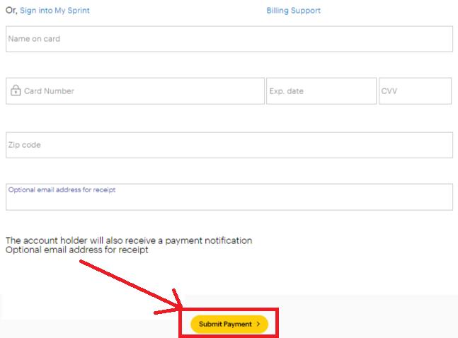 www Sprint com/Bill Pay   Sprint Bill Payment Options