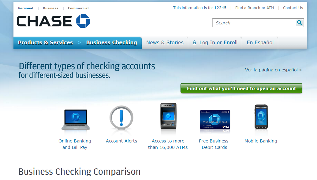 chase bank online business checking