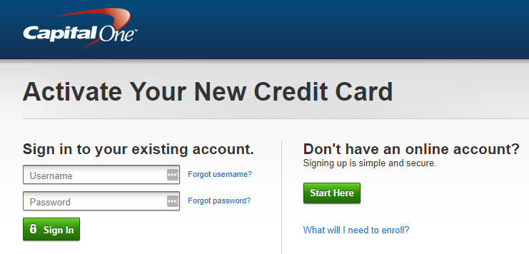 Capital One Credit Card Online Payment Login >> Your Guide To Capital One Credit Card Activation Kudospayments Com